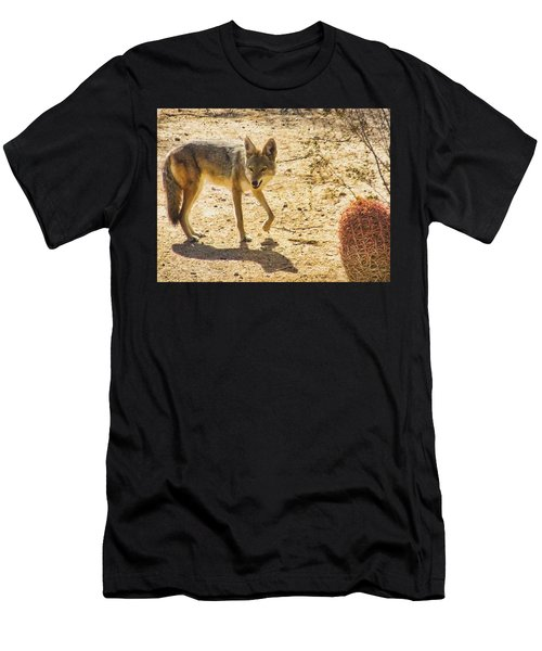 Young Coyote And Cactus Men's T-Shirt (Athletic Fit)
