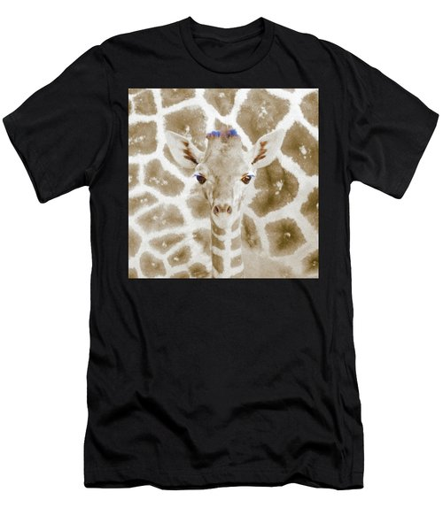 Young Giraffe Men's T-Shirt (Athletic Fit)