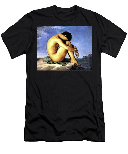 Young Man By The Sea Men's T-Shirt (Athletic Fit)