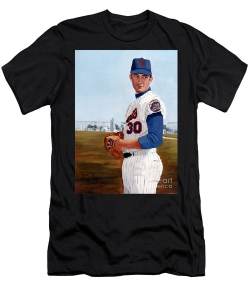 Young Nolan Ryan - With Mets Men's T-Shirt (Athletic Fit)