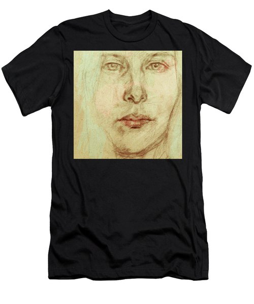 Young Woman Men's T-Shirt (Athletic Fit)