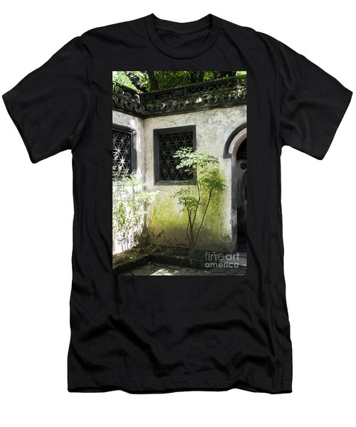 Men's T-Shirt (Athletic Fit) featuring the photograph Yuan Garden by Angela DeFrias
