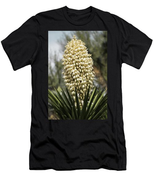 Men's T-Shirt (Slim Fit) featuring the photograph Yucca Flowers In Bloom  by Saija Lehtonen