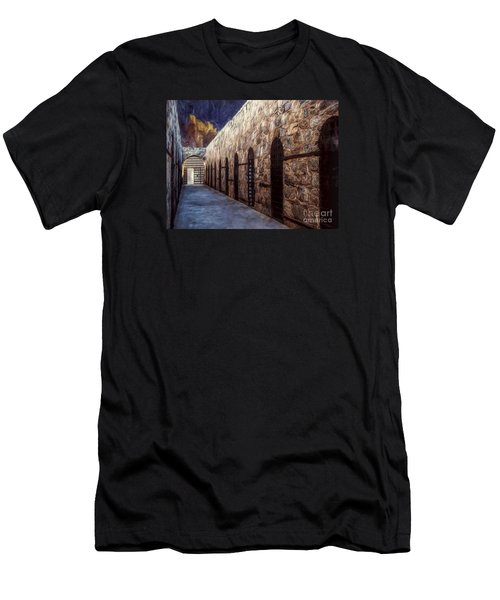 Yuma Prison Cellblock  ... Men's T-Shirt (Slim Fit) by Chuck Caramella