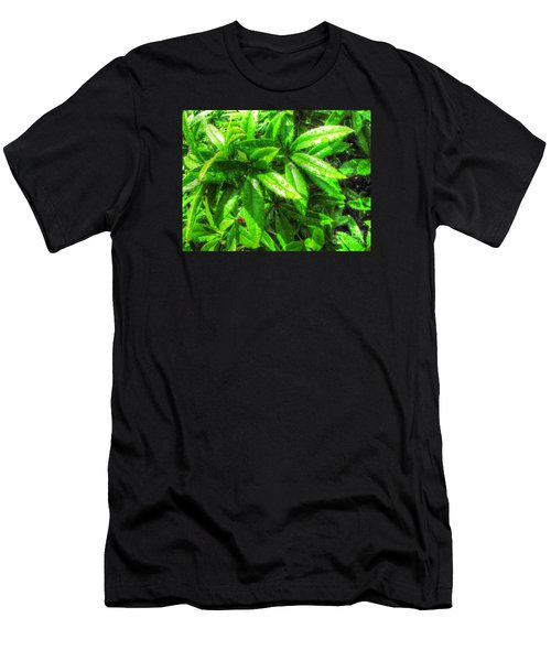 Men's T-Shirt (Slim Fit) featuring the pyrography Yury Bashkin Greeeeenno by Yury Bashkin