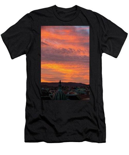 Zagreb Sunset 5 Men's T-Shirt (Athletic Fit)