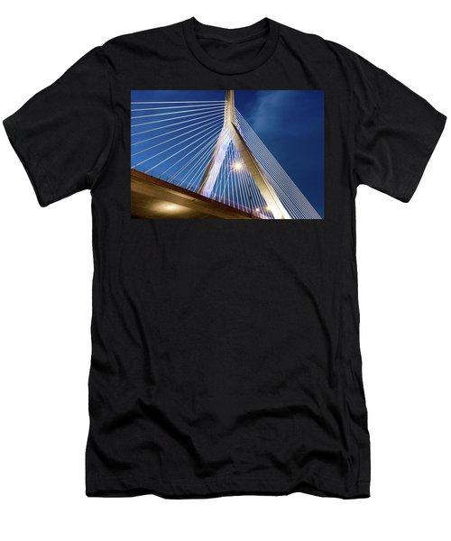 Zakim Bridge Upclose Men's T-Shirt (Athletic Fit)