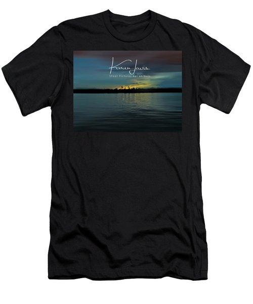 Men's T-Shirt (Slim Fit) featuring the photograph Zambezi Sunset by Karen Lewis
