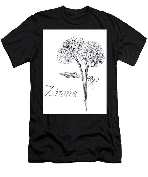 Zannie Zinnia Men's T-Shirt (Athletic Fit)