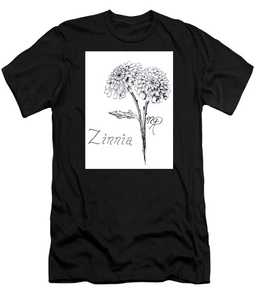 Zannie Zinnia Men's T-Shirt (Athletic Fit)