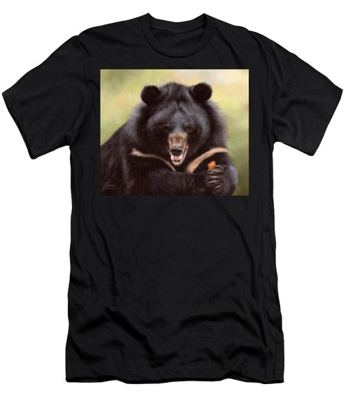 Zebedee Moon Bear - In Support Of Animals Asia Men's T-Shirt (Athletic Fit)
