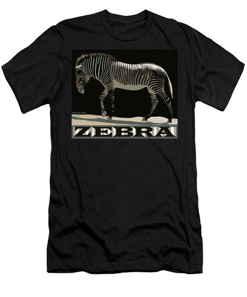 Zebra Design By John Foster Dyess Men's T-Shirt (Athletic Fit)