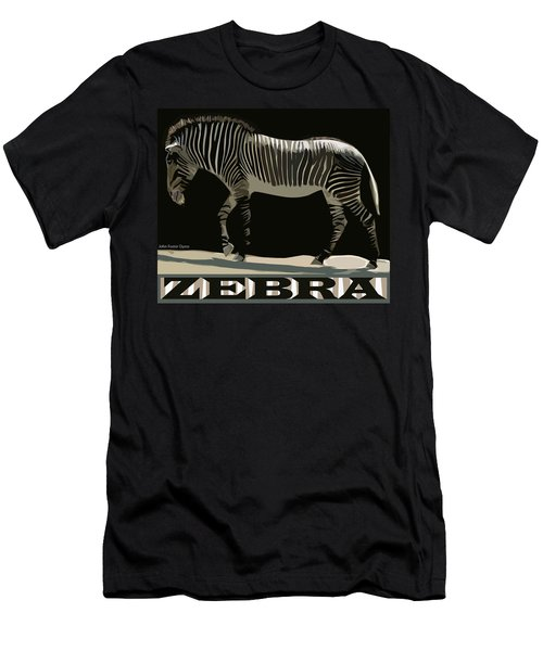 Zebra Design By John Foster Dyess Men's T-Shirt (Athletic Fit)
