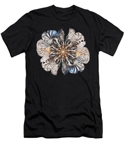 Zebra Flower Men's T-Shirt (Athletic Fit)