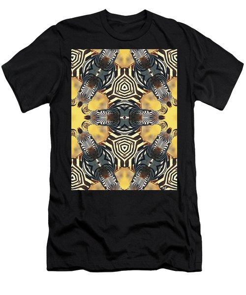Zebra II Men's T-Shirt (Slim Fit) by Maria Watt