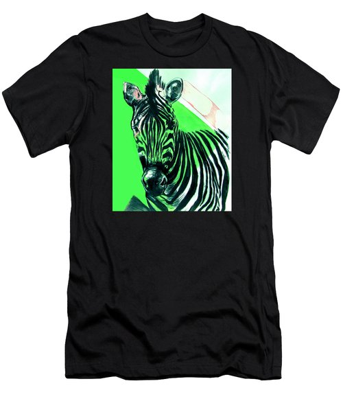 Zebra In Green Men's T-Shirt (Athletic Fit)