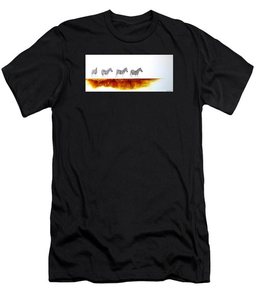 Zebra Landscape - Original Artwork Men's T-Shirt (Athletic Fit)