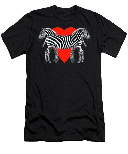 Zebra Love Men's T-Shirt (Athletic Fit)
