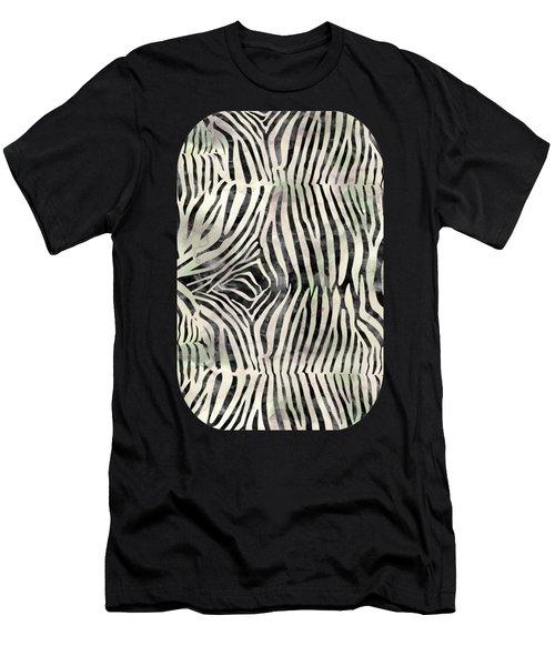 Zebra Print Men's T-Shirt (Athletic Fit)
