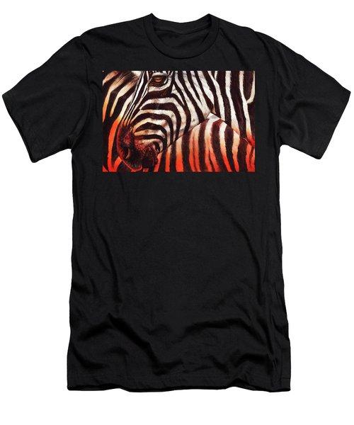 Zebra Sunset Men's T-Shirt (Athletic Fit)