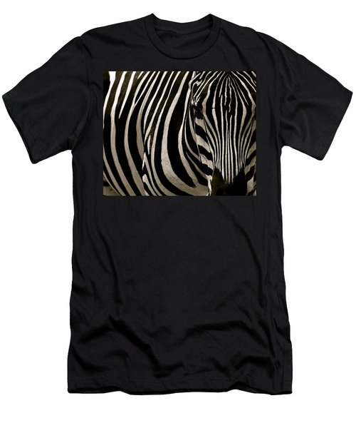 Zebra Up Close Men's T-Shirt (Athletic Fit)
