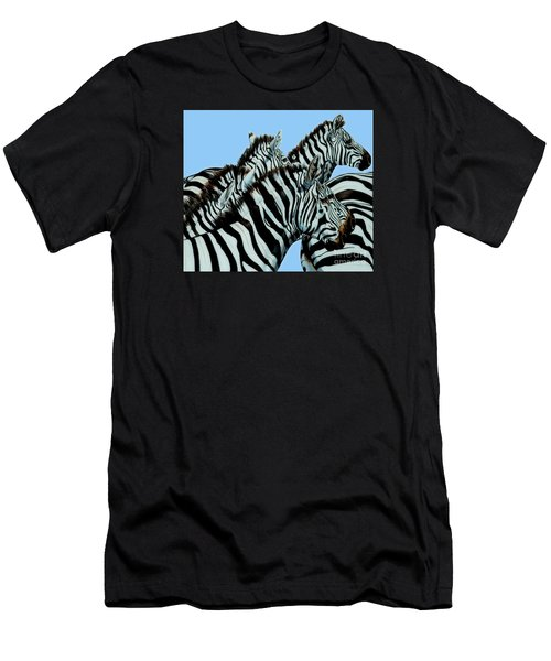 Zebra's In A Herd Men's T-Shirt (Athletic Fit)
