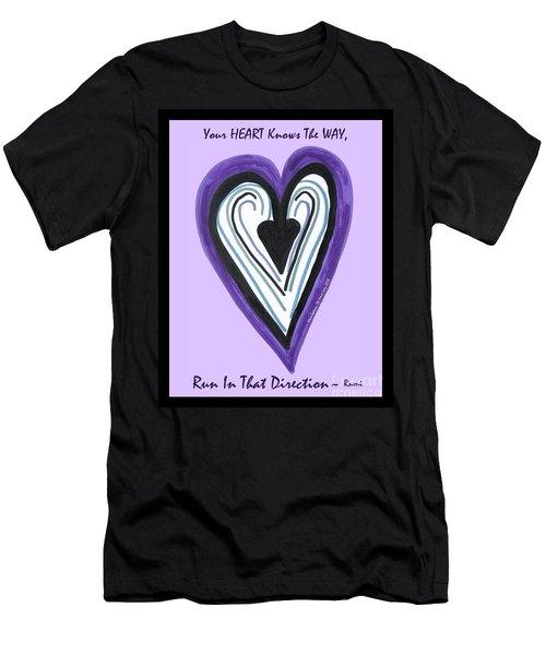 Zen Card Heart Path Men's T-Shirt (Athletic Fit)