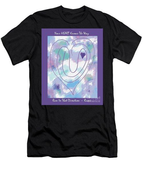 Zen Heart Labyrinth Pastel Men's T-Shirt (Athletic Fit)