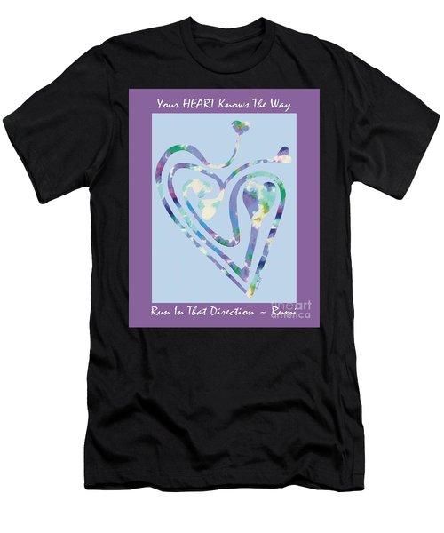 Zen Heart Labyrinth Pastel Painting Men's T-Shirt (Athletic Fit)