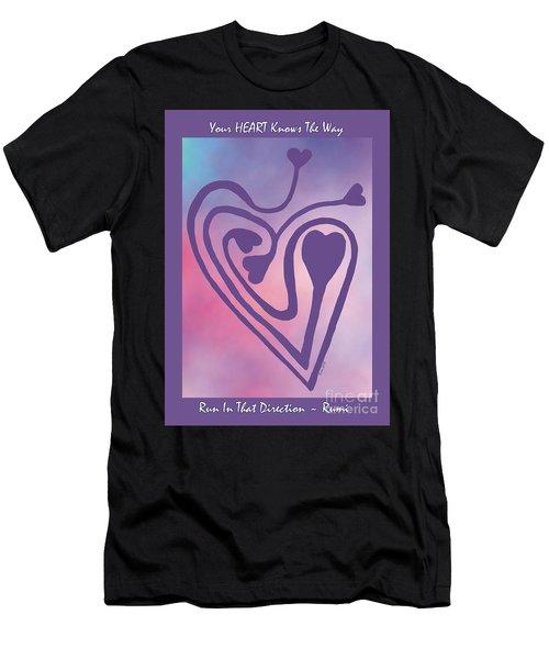 Zen Heart Labyrinth Path Men's T-Shirt (Athletic Fit)