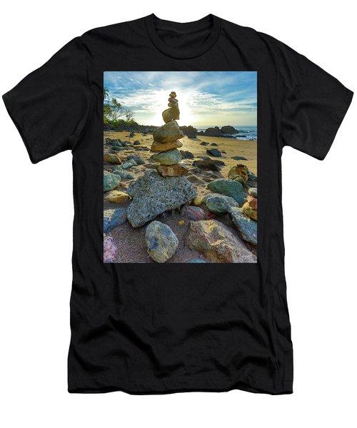Zen Rock Balance Men's T-Shirt (Athletic Fit)