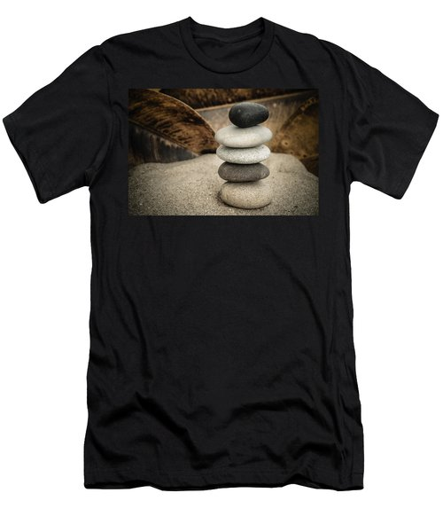 Zen Stones IIi Men's T-Shirt (Slim Fit) by Marco Oliveira