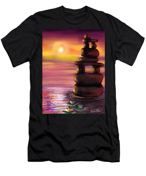 Zen Sunset Men's T-Shirt (Slim Fit) by Diana Riukas