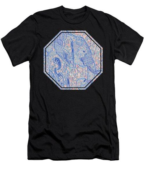 Zentangle Elephant-oil Men's T-Shirt (Athletic Fit)