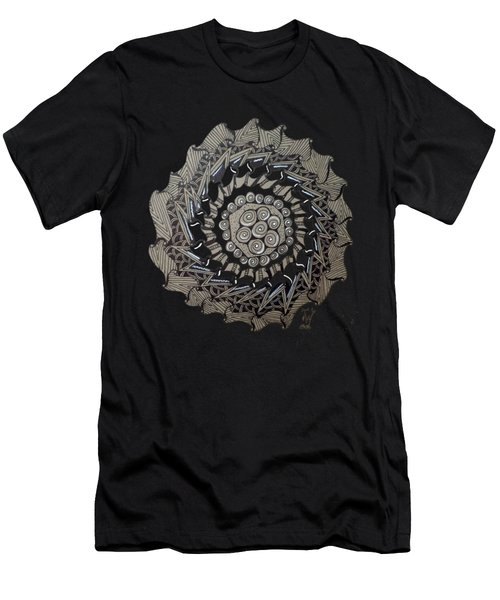 Zentangle Shield  Men's T-Shirt (Athletic Fit)