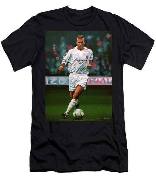 Zidane At Real Madrid Painting Men's T-Shirt (Athletic Fit)
