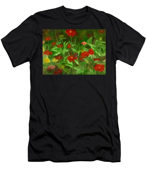 Zinnias Men's T-Shirt (Athletic Fit)