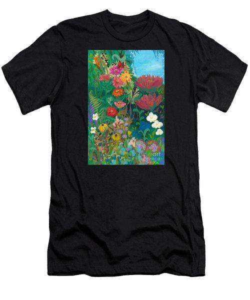 Zinnias Garden Men's T-Shirt (Athletic Fit)