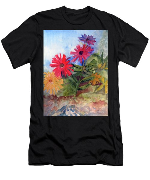 Zinnias In The Garden Men's T-Shirt (Athletic Fit)