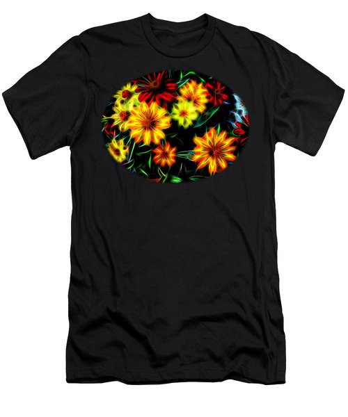 Zinnias With Zest Men's T-Shirt (Slim Fit) by Nick Kloepping