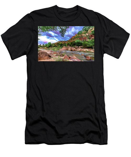 Zion At Daybreak Men's T-Shirt (Athletic Fit)