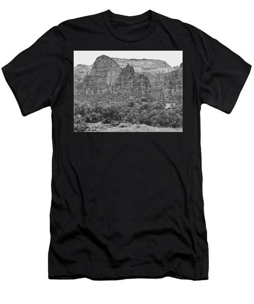 Zion Canyon Monochrome Men's T-Shirt (Athletic Fit)