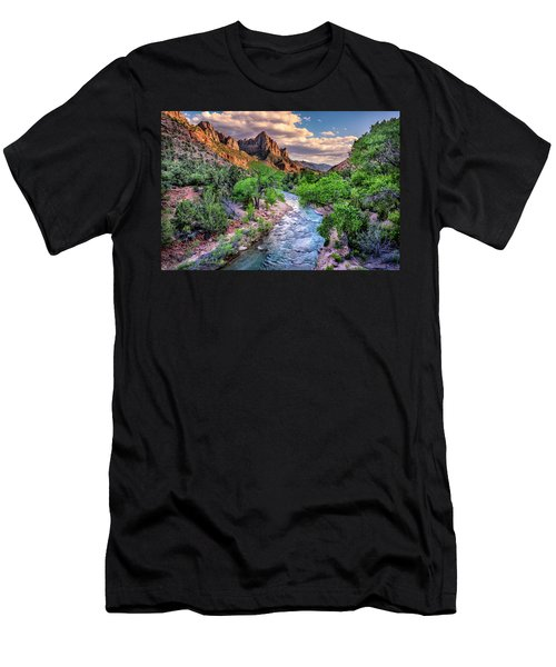 Zion Canyon At Sunset Men's T-Shirt (Athletic Fit)