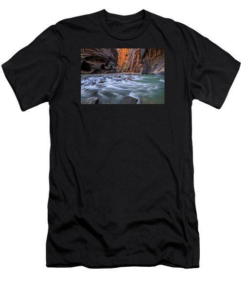 Men's T-Shirt (Athletic Fit) featuring the photograph Zion Narrows by Wesley Aston