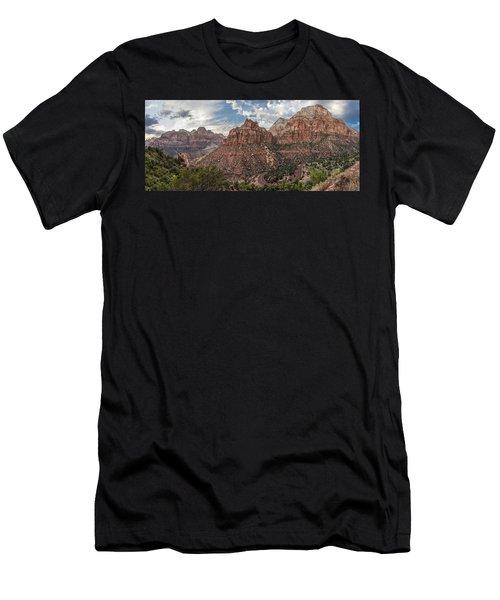 Zion National Park Switchback Road Men's T-Shirt (Athletic Fit)