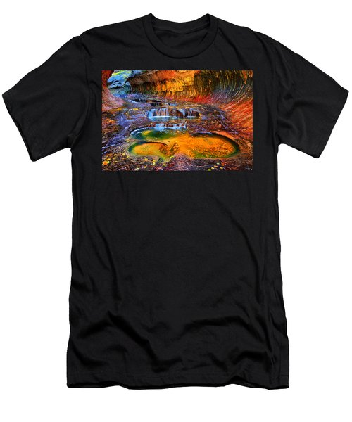 Zion Subway Falls Men's T-Shirt (Athletic Fit)