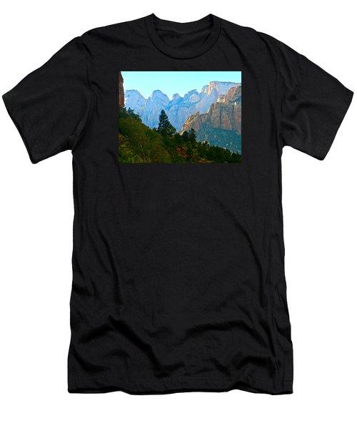 Zion's Hint Of Blue Men's T-Shirt (Athletic Fit)