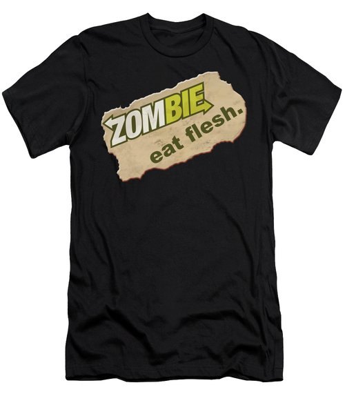 Zombie - Eat Flesh Men's T-Shirt (Athletic Fit)