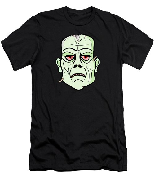 Zombie Head Men's T-Shirt (Slim Fit) by Martin Capek