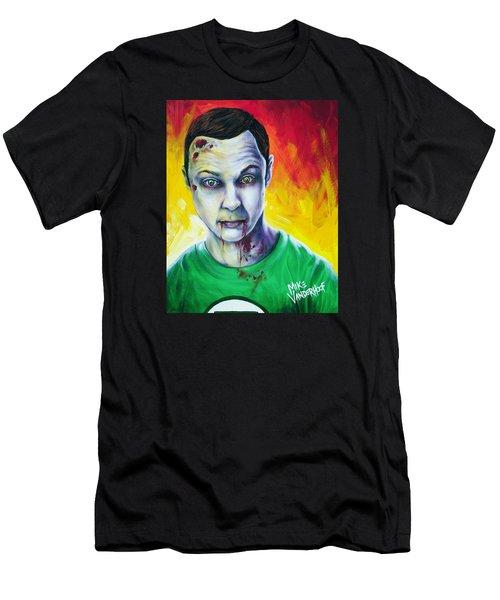 Zombie Sheldon Cooper Men's T-Shirt (Athletic Fit)